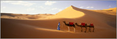 Canvastavla  Camels in the desert