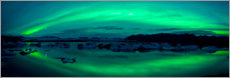 Canvastavla  Aurora Borealis over the Jokulsarlon Lagoon