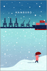 Premiumposter  Hamburg in winter - Katinka Reinke