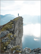 Premiumposter The cliff above the fjord