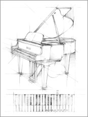 Canvastavla  Piano Sketch - Ethan Harper