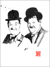 Canvastavla  Laurel and Hardy - Péchane