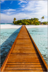 Akrylglastavla  Jetty to the island, Maldives - Matteo Colombo