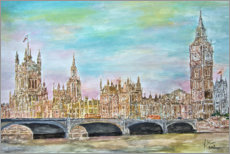 Premiumposter  Westminster Palace with Westminster Bridge - Gerhard Kraus