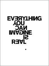Canvastavla  Everything you can imagine is real (Pablo Picasso) - THE USUAL DESIGNERS