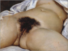 Premiumposter  The origin of the world - Gustave Courbet