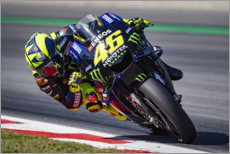 Canvastavla  Valentino Rossi, Yamaha Factory Racing, Catalan GP 2019