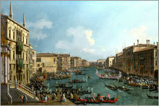 Självhäftande poster  Regatta on the Canale Grande - Antonio Canaletto