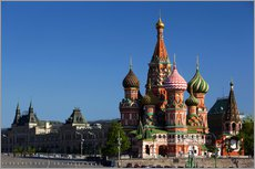Galleritryck  St. Basil's Cathedral in Moscow - Walter Bibikow