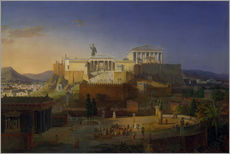 Galleritryck  The Acropolis of Athens, 1846 - Leo von Klenze