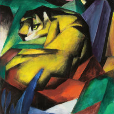Canvastavla  Tiger - Franz Marc