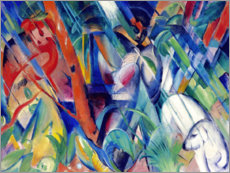 Akrylglastavla  In the rain - Franz Marc