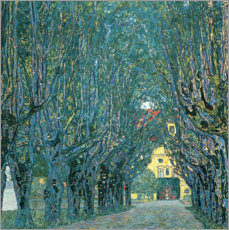 Canvastavla  Avenue in the Park of Kammer Castle - Gustav Klimt