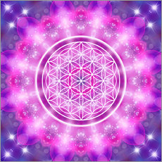 Självhäftande poster  Flower of Life - Love Essence - Dolphins DreamDesign