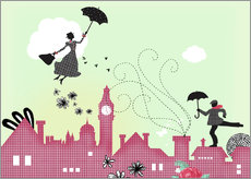 Galleritryck  Mary Poppins London - Elisandra Sevenstar