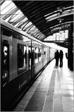 Galleritryck  S-Bahn Berlin black and white photo - Falko Follert