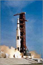Galleritryck  Apollo 11 space vehicle taking off from Kennedy Space Center - Stocktrek Images