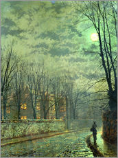 Galleritryck  Going Home by Moonlight - John Atkinson Grimshaw