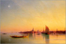 Akrylglastavla  Sunset in the bay of Venice - Ivan Konstantinovich Aivazovsky