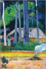 PVC-tavla  Hut in the Trees - Paul Gauguin