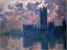 Galleritryck  Houses of Parliament, Sunset - Claude Monet