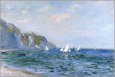 Galleritryck  Rocks and sailing boats in Pourville - Claude Monet