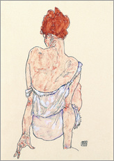 Galleritryck  Female back - Egon Schiele