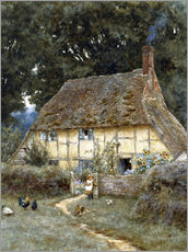 Galleritryck  On the Brook Road, near Witley - Helen Allingham