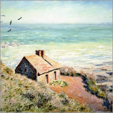 PVC-tavla  Fisherman's Hut, Varengeville - Claude Monet
