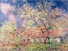 Premiumposter  Spring in Giverny - Claude Monet
