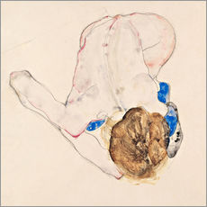 Galleritryck  Nude with blue stockings - Egon Schiele