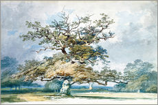 Galleritryck  A Landscape with an Old Oak Tree - Joseph Mallord William Turner