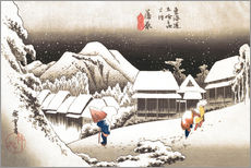 Galleritryck  Evening Snow at Kanbara - Utagawa Hiroshige