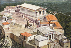 Galleritryck  The Acropolis and Parthenon - Roger Payne