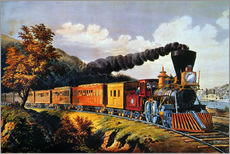 Galleritryck  American Express Train. - N. & J.M. Currier & Ives