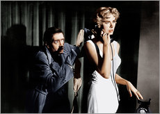 Självhäftande poster  Dial M for Murder, from left: Anthony Dawson, Grace Kelly in 1954