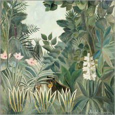 Självhäftande poster  The Equatorial Jungle - Henri Rousseau