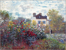 Akrylglastavla  The Artist's Garden in Argenteuil - Claude Monet