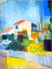 Galleritryck  The bright house (first version) - August Macke