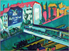 Galleritryck  Tram and railway - Ernst Ludwig Kirchner