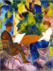 Galleritryck  Couple at the garden table - August Macke