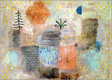 Galleritryck  Park with the cool half-moon - Paul Klee