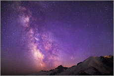 Galleritryck  Milky way at the violet sky - Gary Luhm