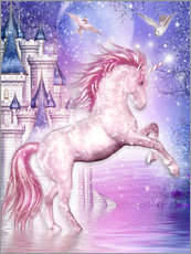 Självhäftande poster  Pink Magic Unicorn - Dolphins DreamDesign