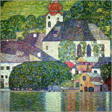 Canvastavla  Church in Unterach, Attersee - Gustav Klimt