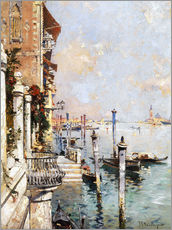 Självhäftande poster  The Grand Canal, Venice - Franz Richard Unterberger