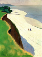 Canvastavla  The Cliff and the White Shore - Felix Edouard Vallotton