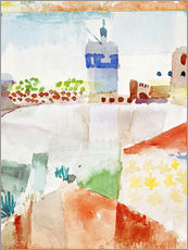 Självhäftande poster  Hammamet with the mosque, 1914 - Paul Klee