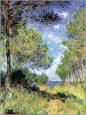 Akrylglastavla  Pine Tree Path At Varengeville - Claude Monet