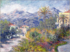 Canvastavla  Villas at Bordighera - Claude Monet